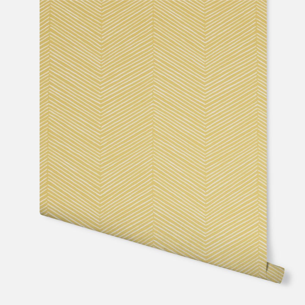 Arrow Weave Wallpaper - Ochre - by Arthouse