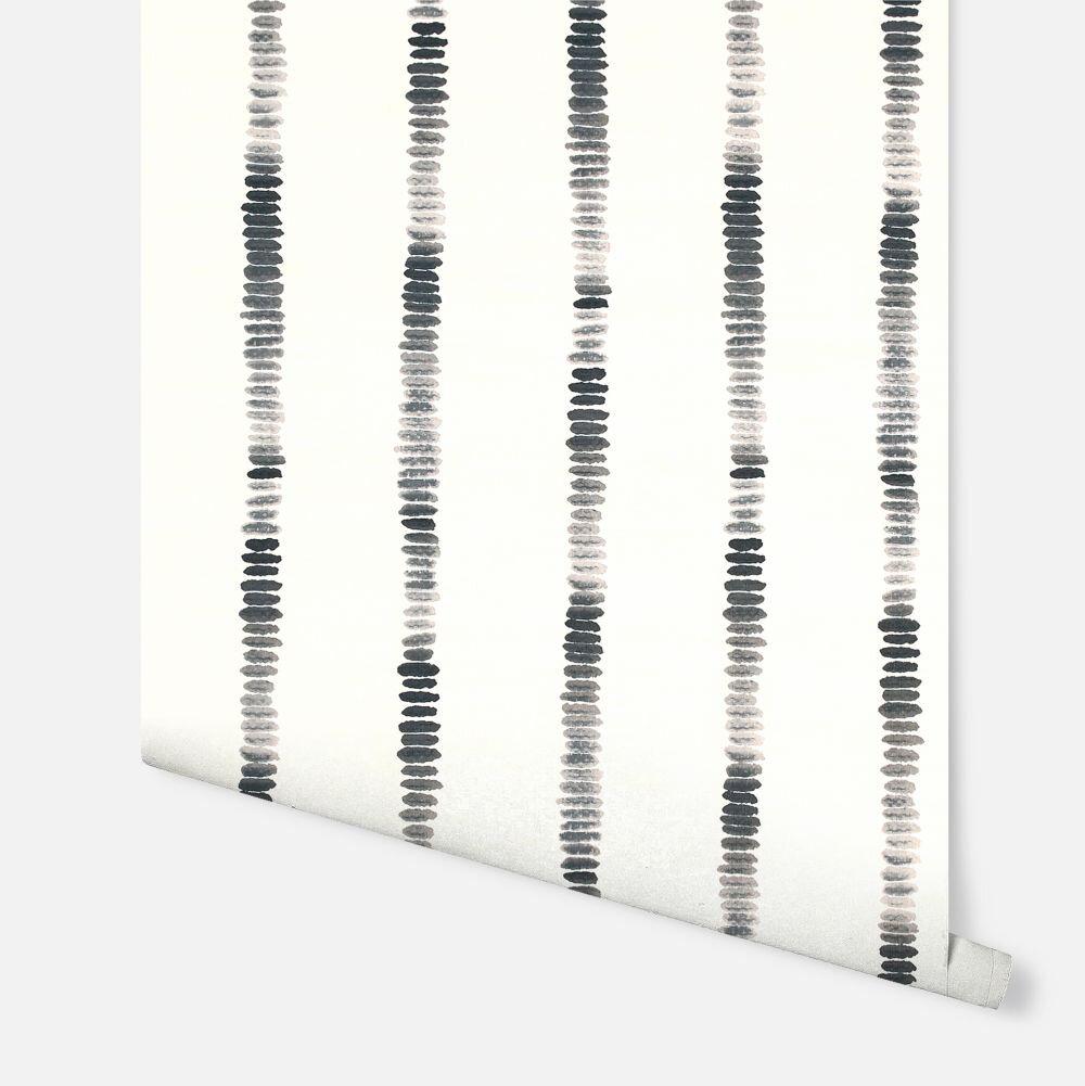 Silk Road Stripe  Wallpaper - Mono - by Arthouse