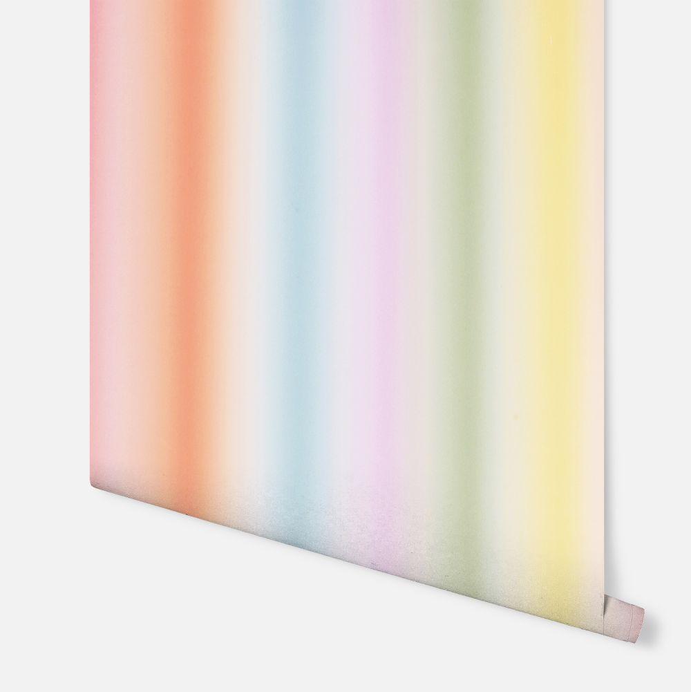 Rainbow Stripe  Wallpaper - Multi - by Arthouse