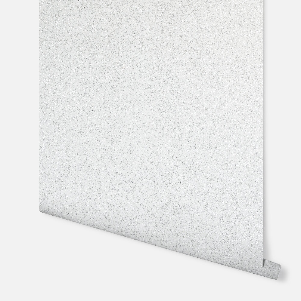 Sequin Sparkle  Wallpaper - White - by Arthouse
