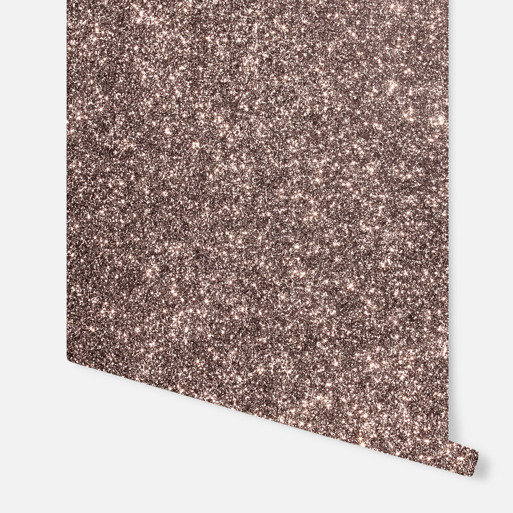 Sequin Sparkle  Wallpaper - Rose Gold - by Arthouse