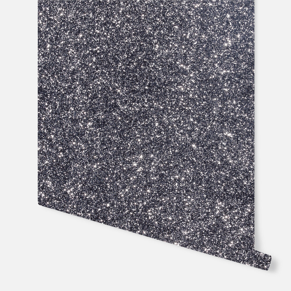Sequin Sparkle  Wallpaper - Gunmetal - by Arthouse
