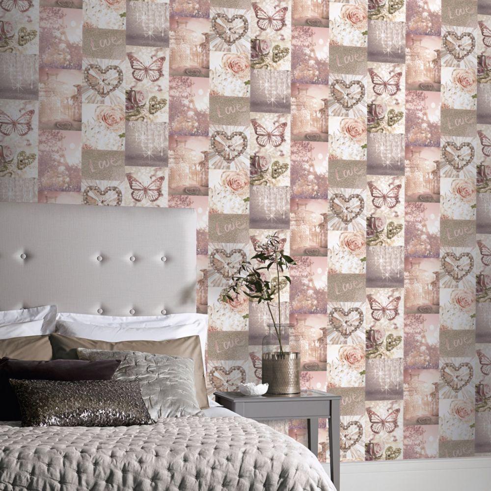 Love Paris  Wallpaper - Blush - by Arthouse