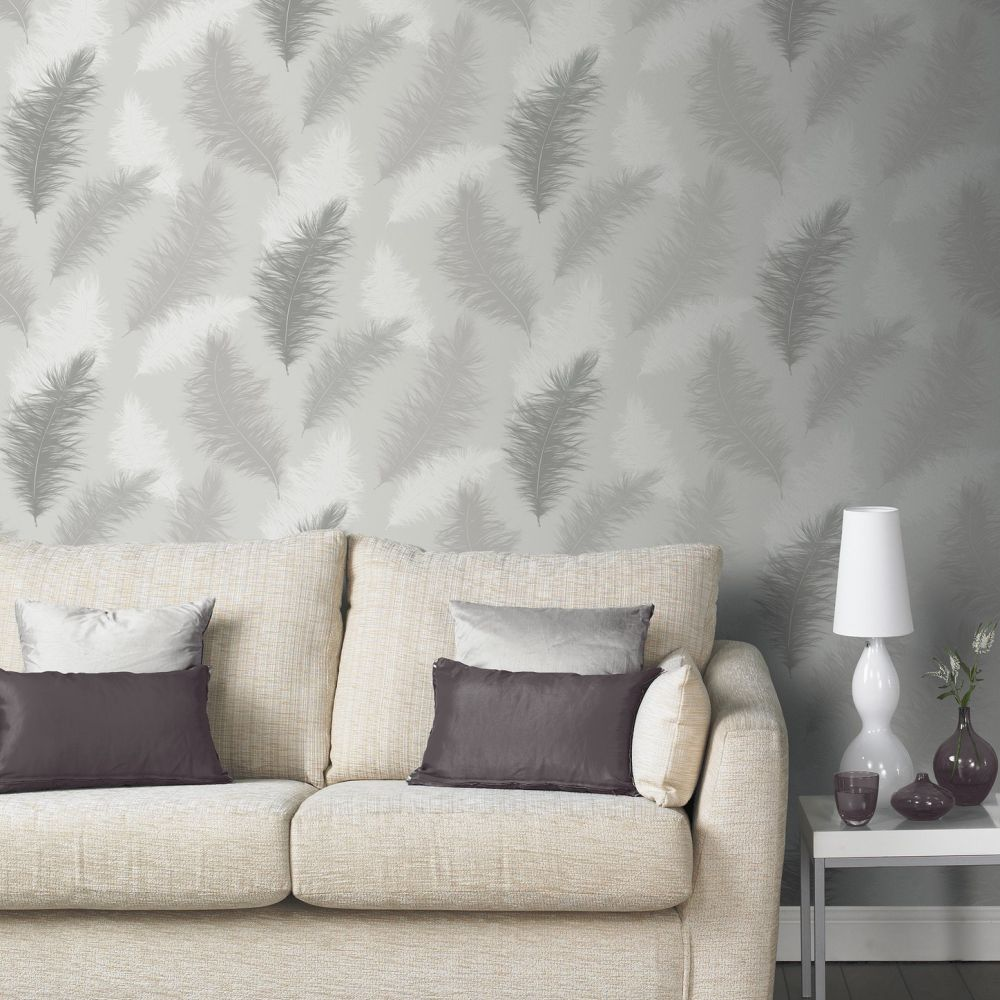 Sussurro  Wallpaper - Grey - by Arthouse