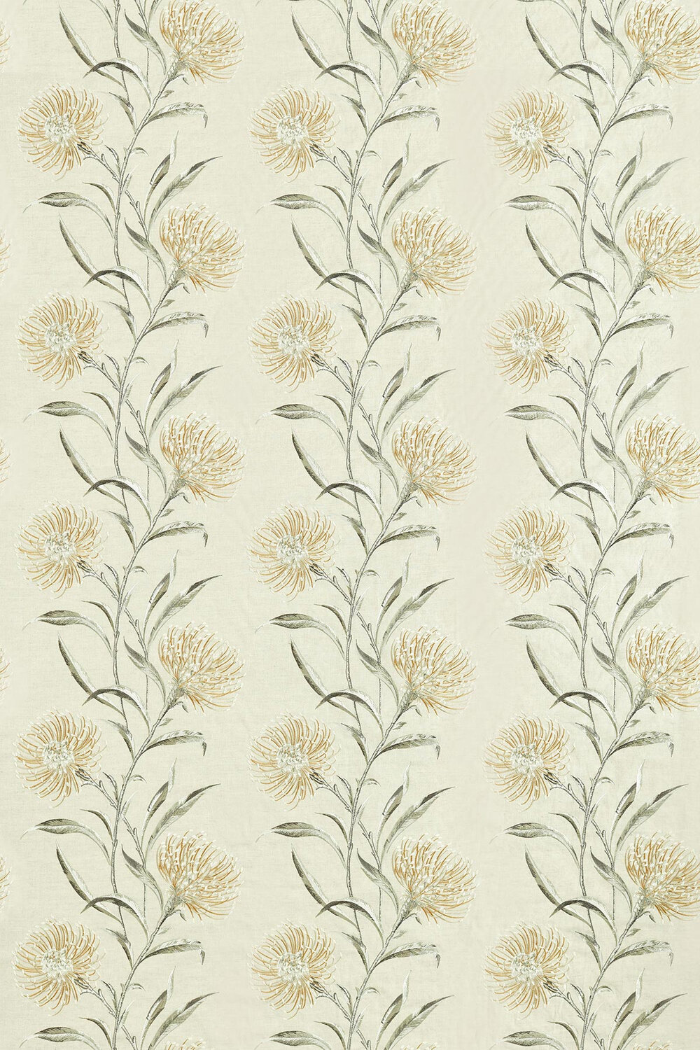 Catherinae Embroidery Fabric - Hay - by Sanderson