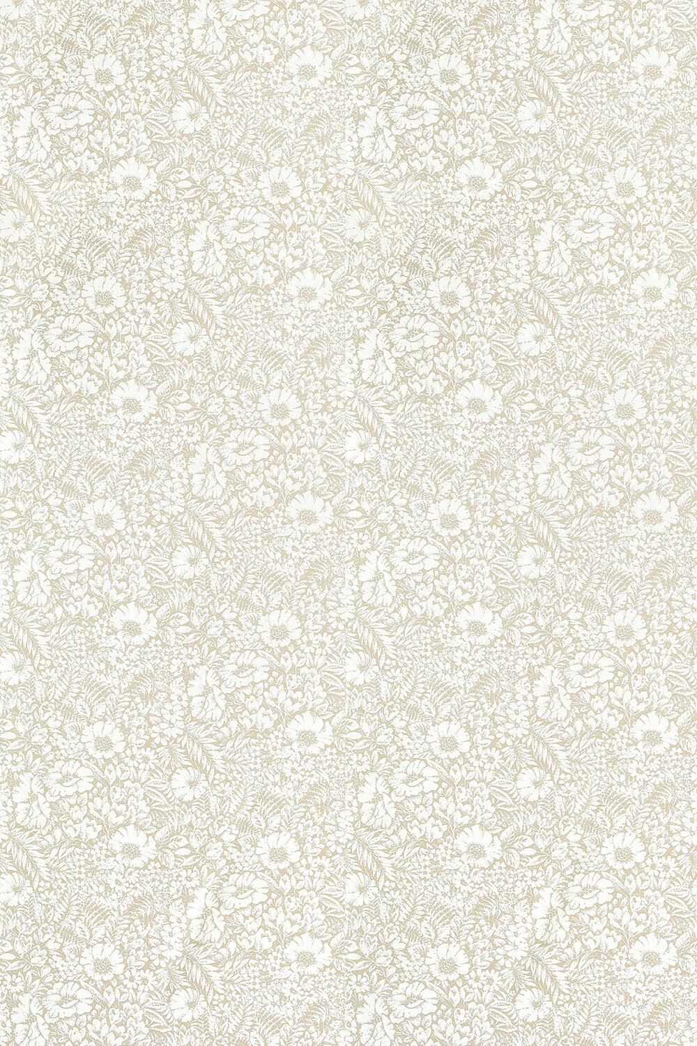 Meadow Fields Fabric - Linen - by Sanderson