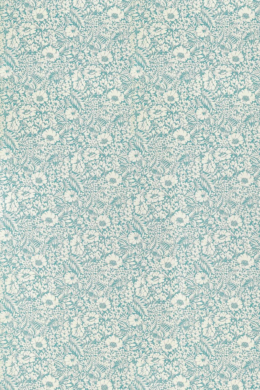 Meadow Fields Fabric - High Sea - by Sanderson