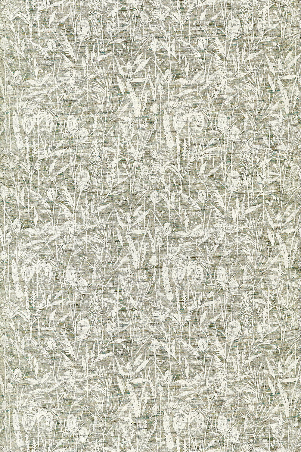 Violet Grasses Fabric - Moss - by Sanderson