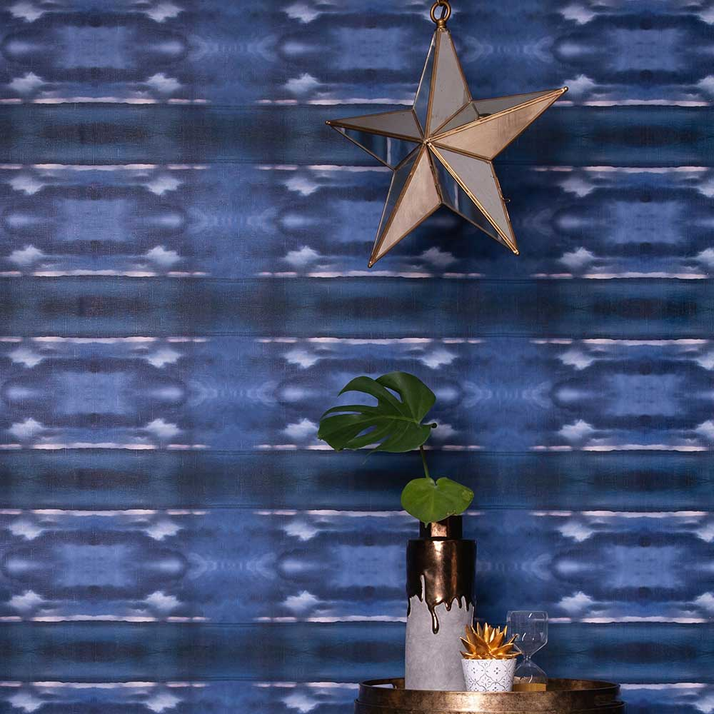 Koh Monsoon Wallpaper - Blue - by Hattie Lloyd