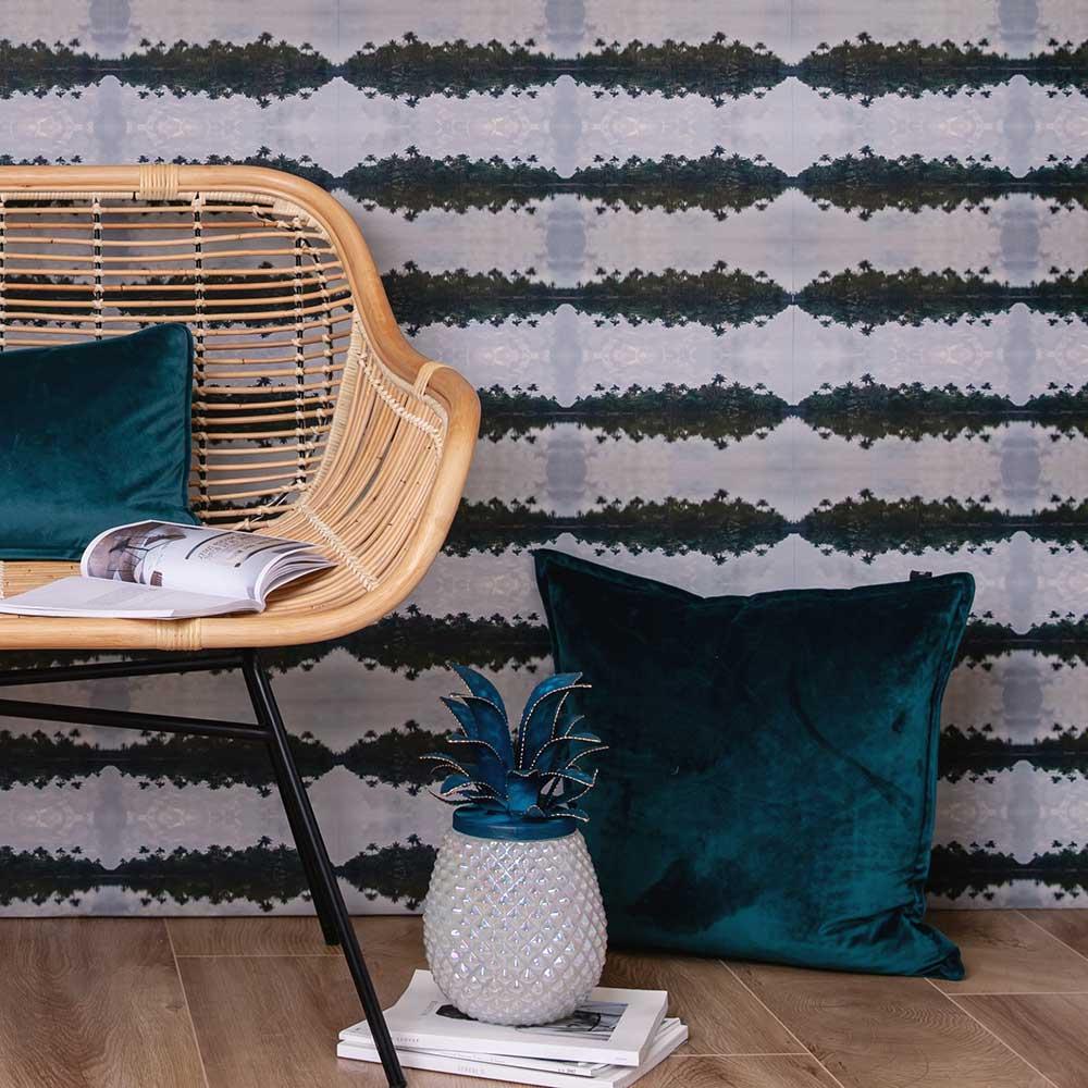 Tropical Pulse Wallpaper - Green - by Hattie Lloyd