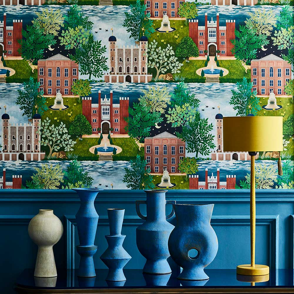 Palace Tales Wallpaper - Multi-coloured - by Cole & Son