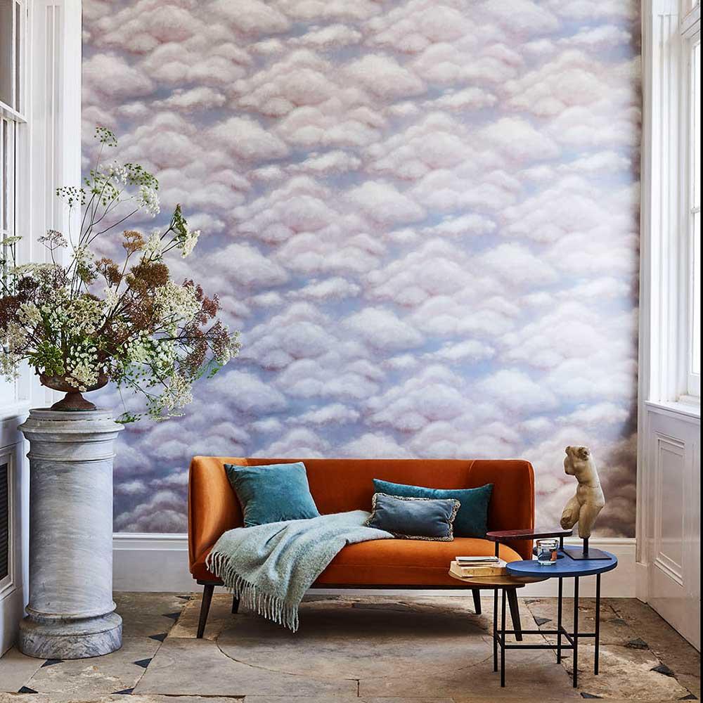 Fresco Sky Wallpaper - Mink - by Cole & Son