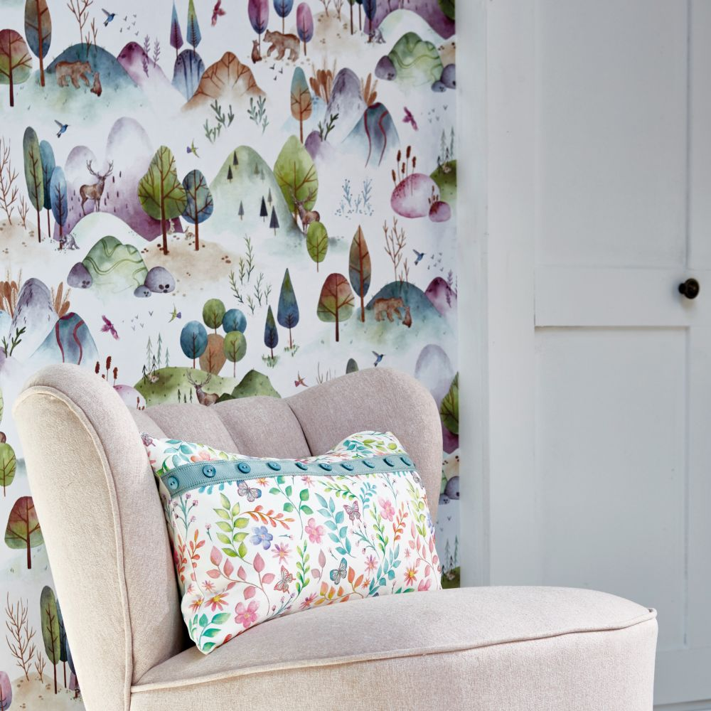 Hilltop Heights Wallpaper - Candyfloss - by Prestigious