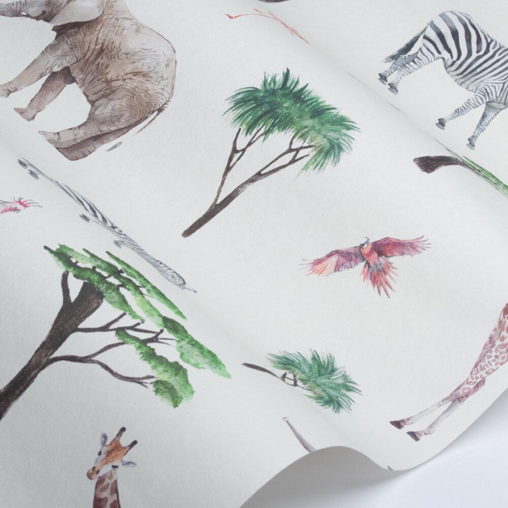 Safari Park Wallpaper - Jungle - by Prestigious