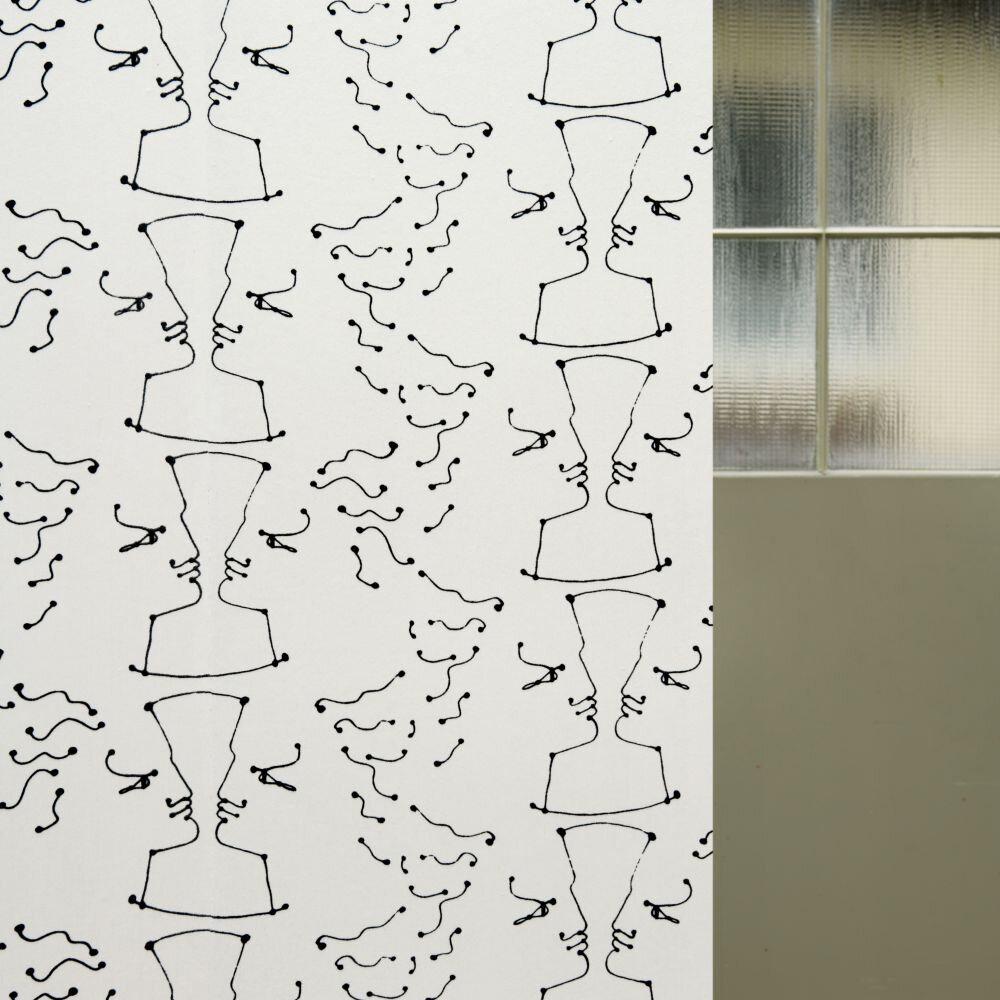 Tete A Tete            Wallpaper - Ivoire / Noir - by Lelievre