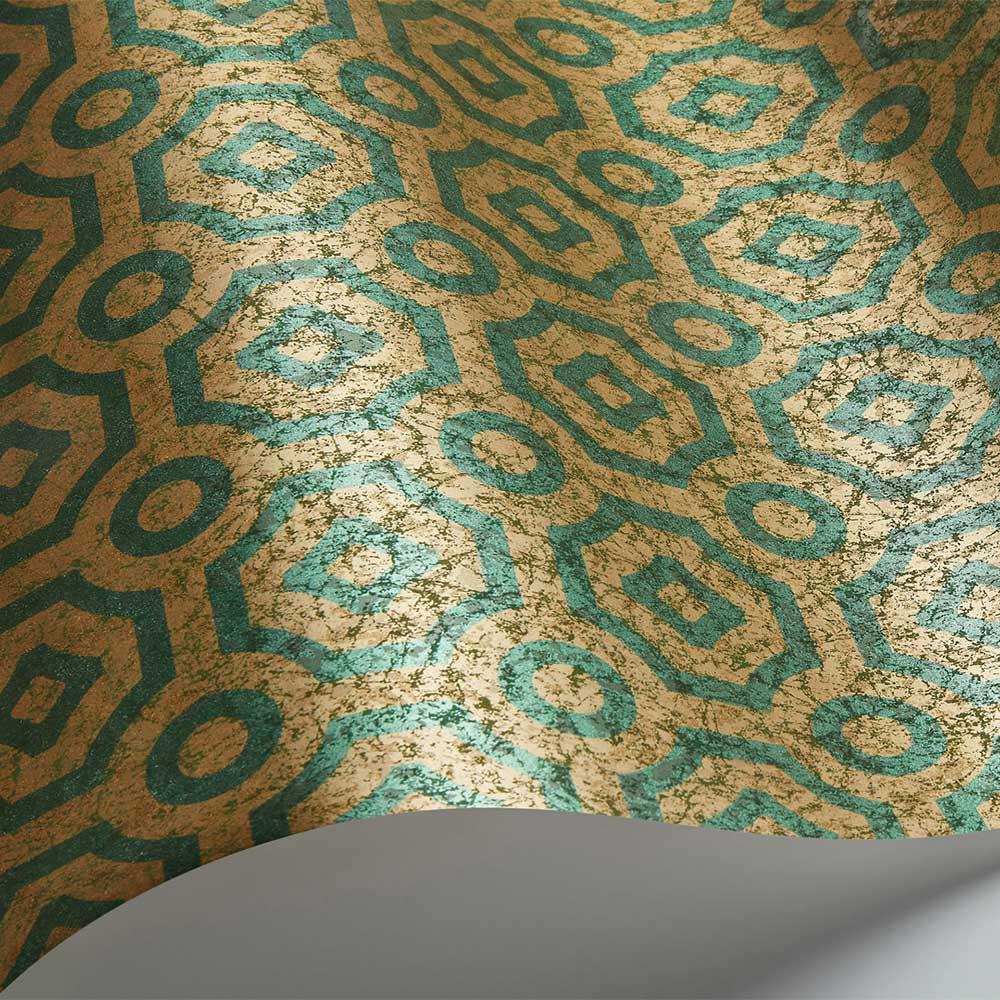 Queen's Quarter Wallpaper - Emerald / Antique Gold - by Cole & Son