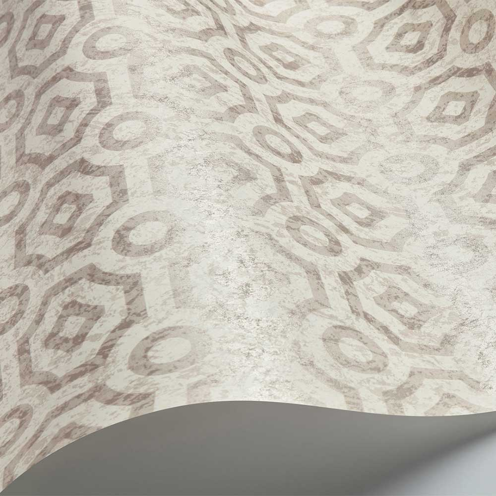 Queen's Quarter Wallpaper - Mica on Parchment - by Cole & Son
