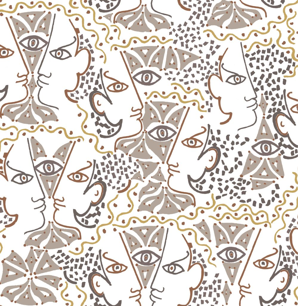 Union Wallpaper - Taupe - by Lelievre