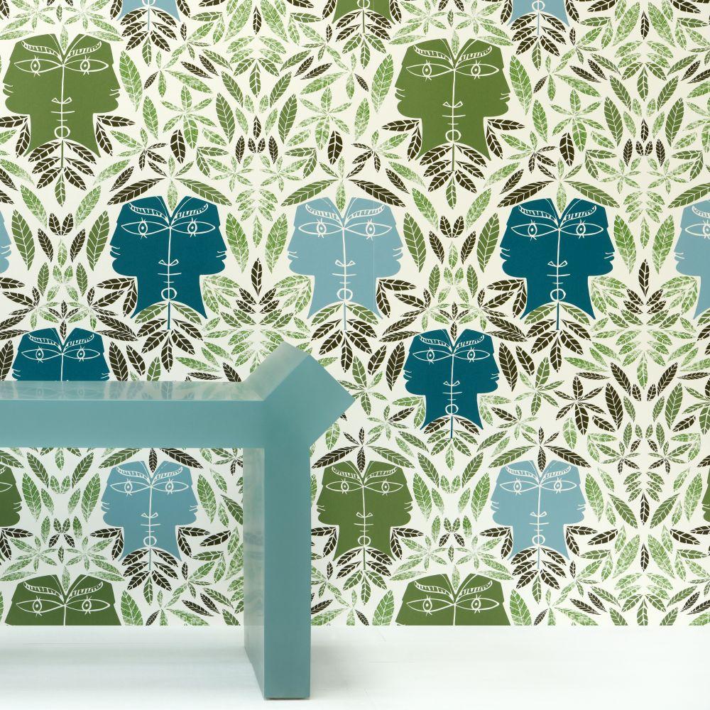 Cap D'Ail Wallpaper - Vegetal - by Lelievre