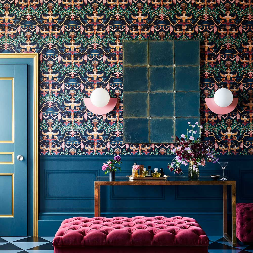Library Frieze Wallpaper - Midnight - by Cole & Son