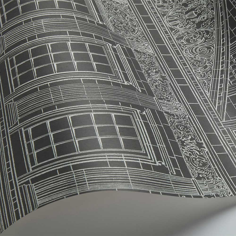 Wren Architecture Wallpaper - Chalk / Charcoal - by Cole & Son