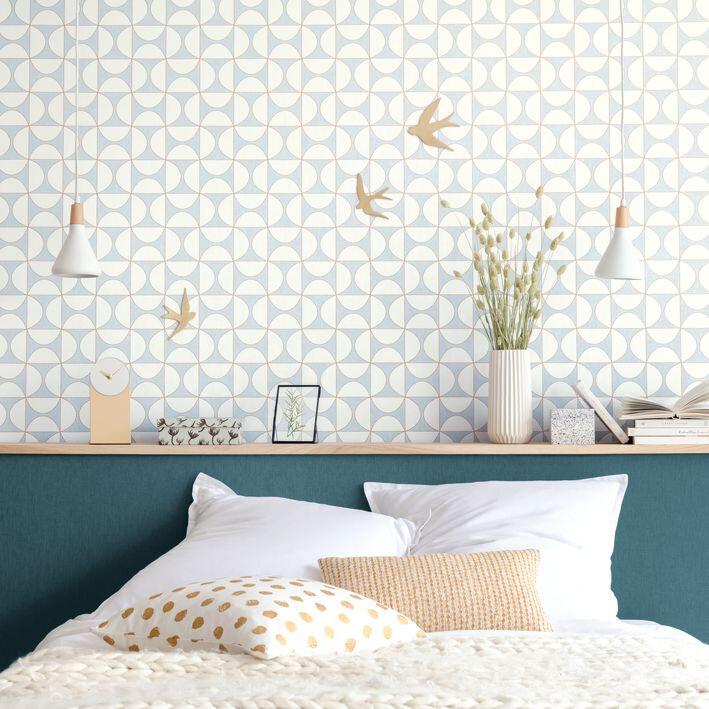 Tam Tam Wallpaper - Duck Egg - by Caselio