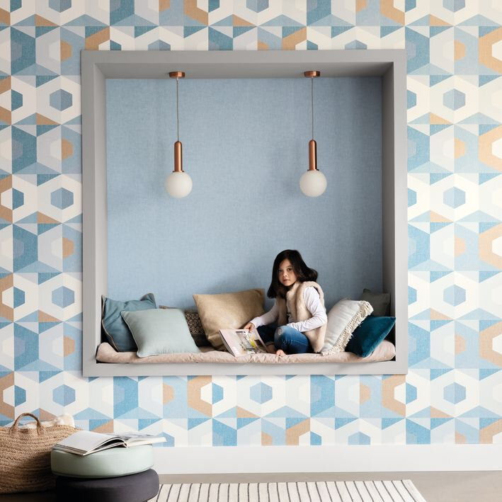 Pop Wallpaper - Teal - by Caselio