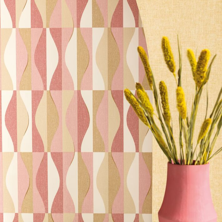 Ondulation Wallpaper - Blush - by Caselio