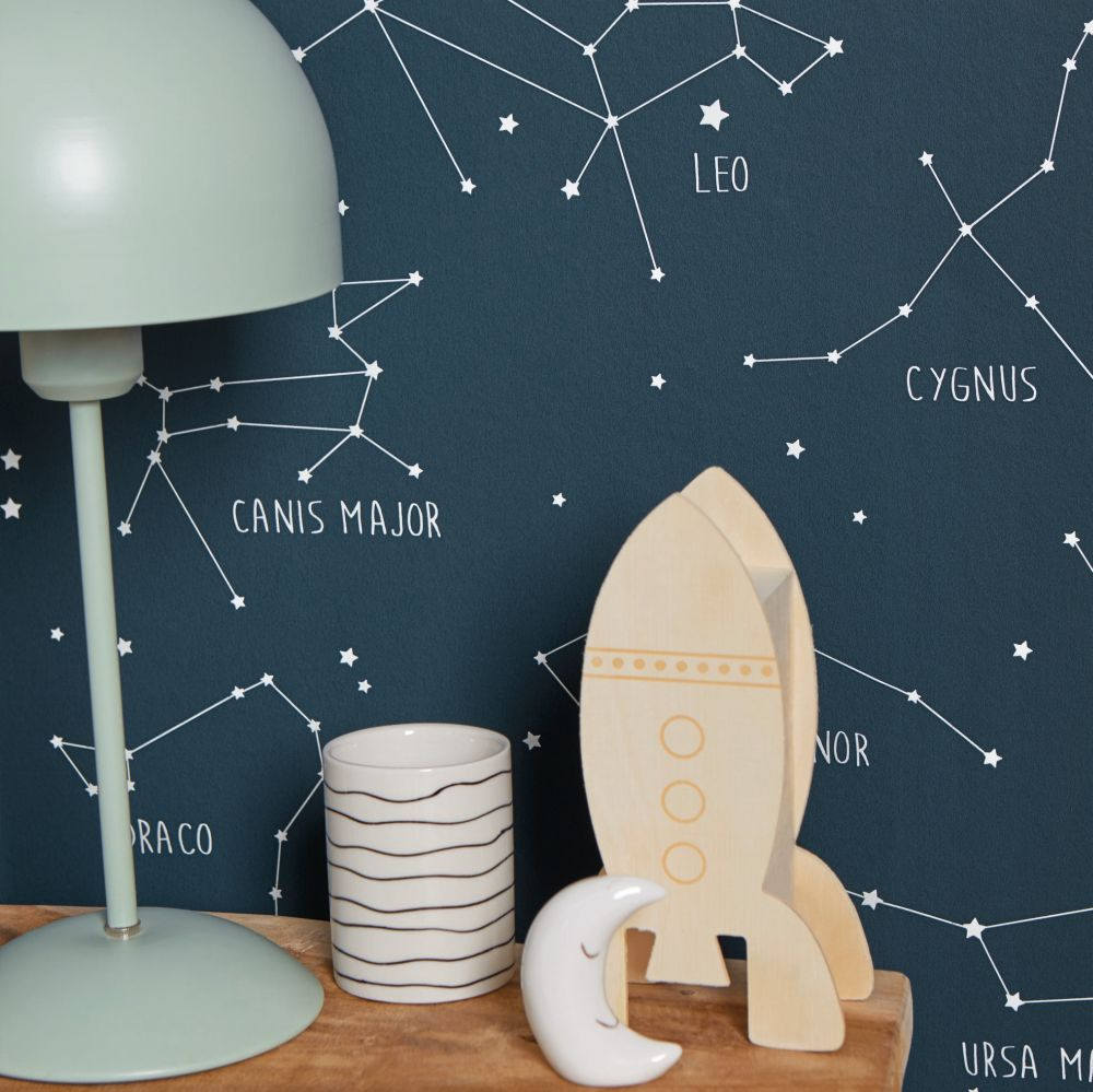 Constellations Wallpaper - Ink - by Caselio