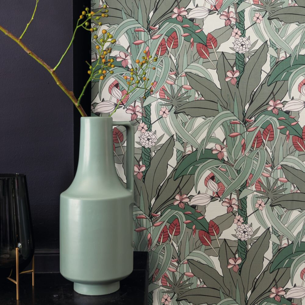 Lush Garden Wallpaper - Grey - by Albany