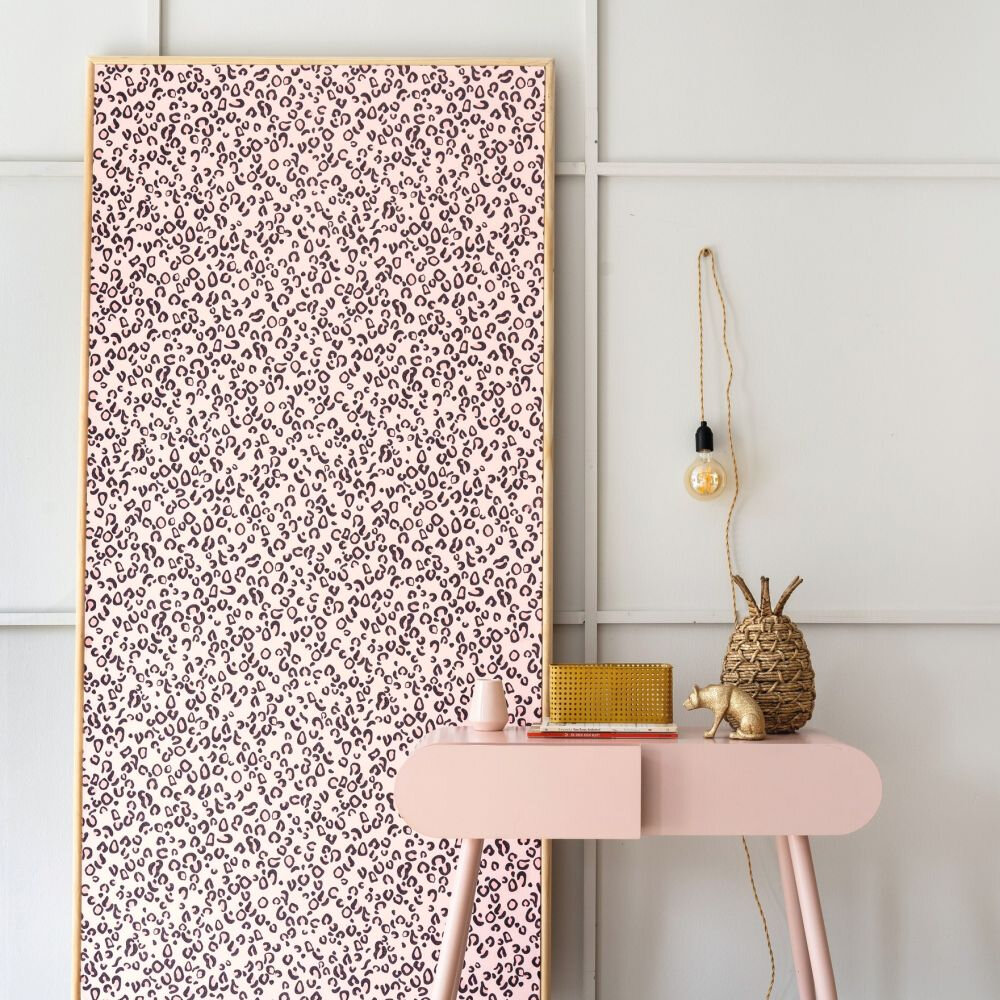 Leopard Print Wallpaper - Pink - by Albany