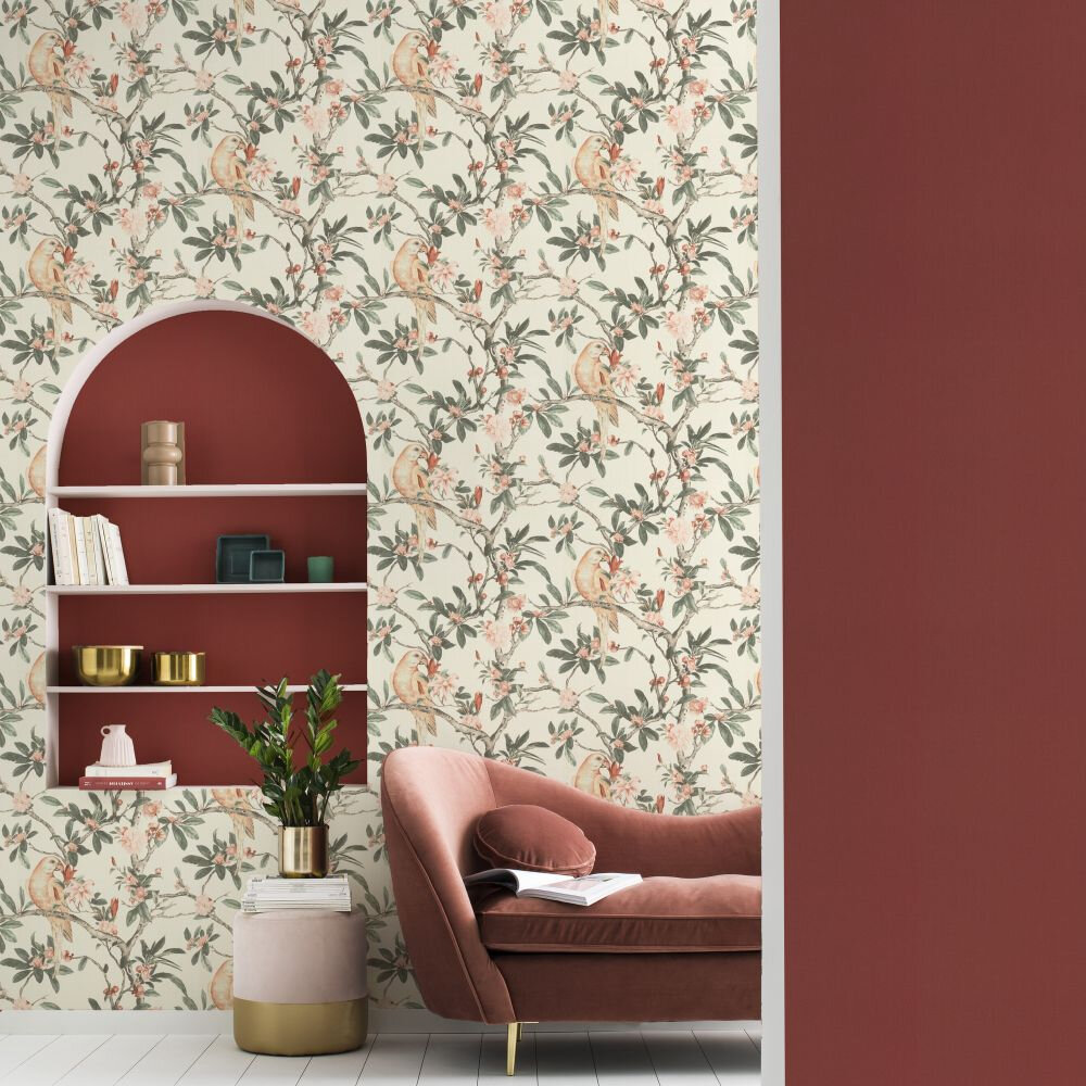 Pretty Polly Wallpaper - Cream - by Albany