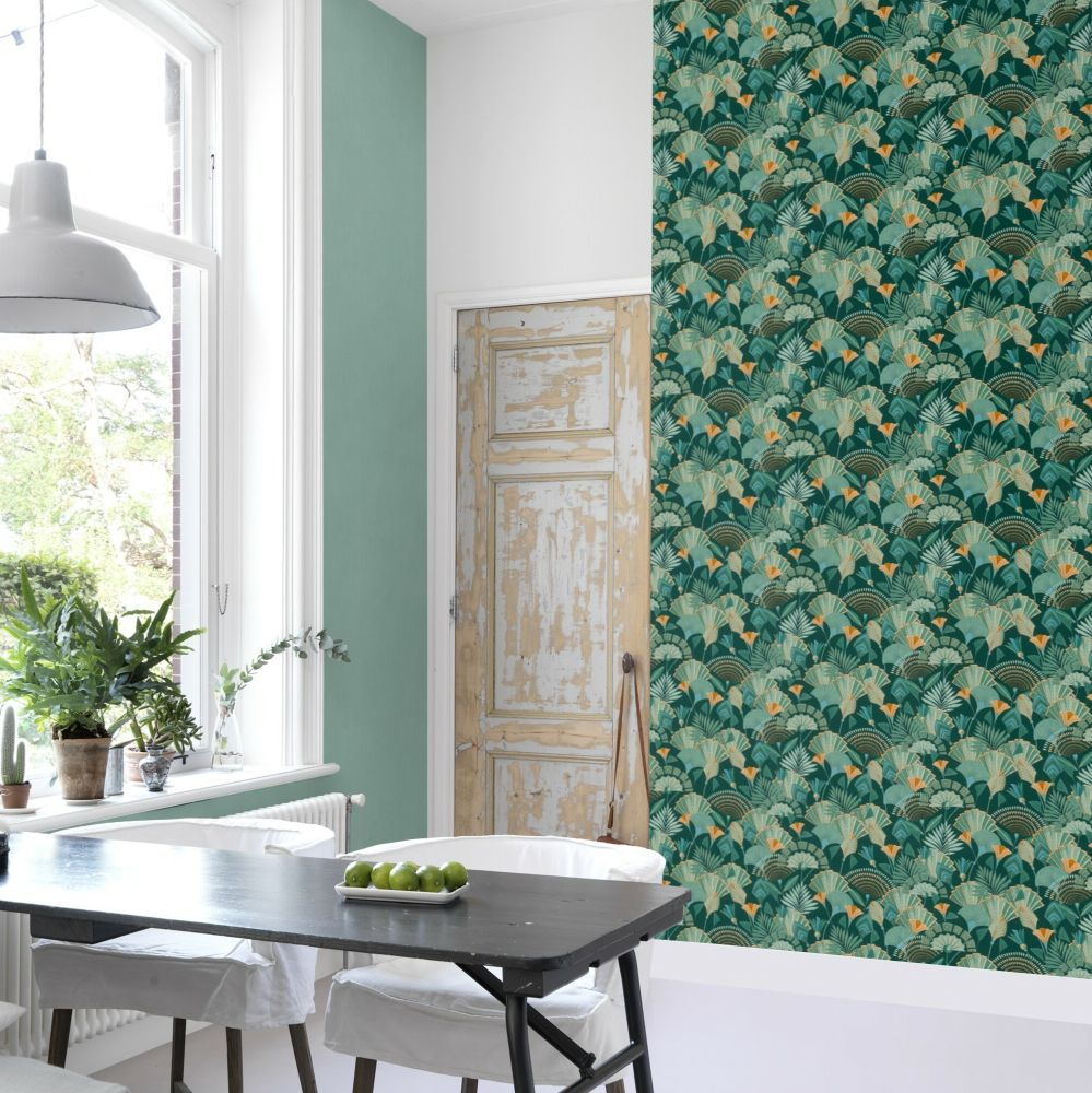 Deco Flowers Wallpaper - Green - by Albany