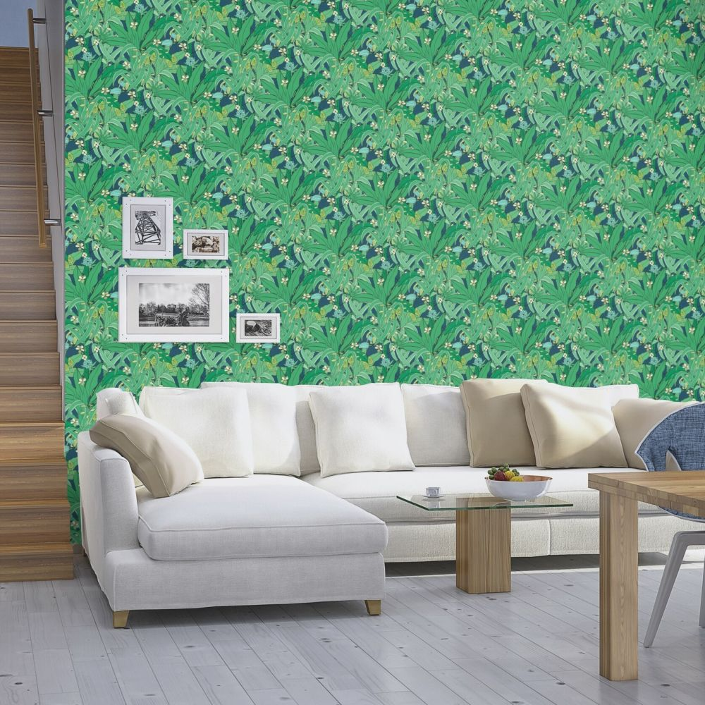 Lush Garden Wallpaper - Emerald - by Albany