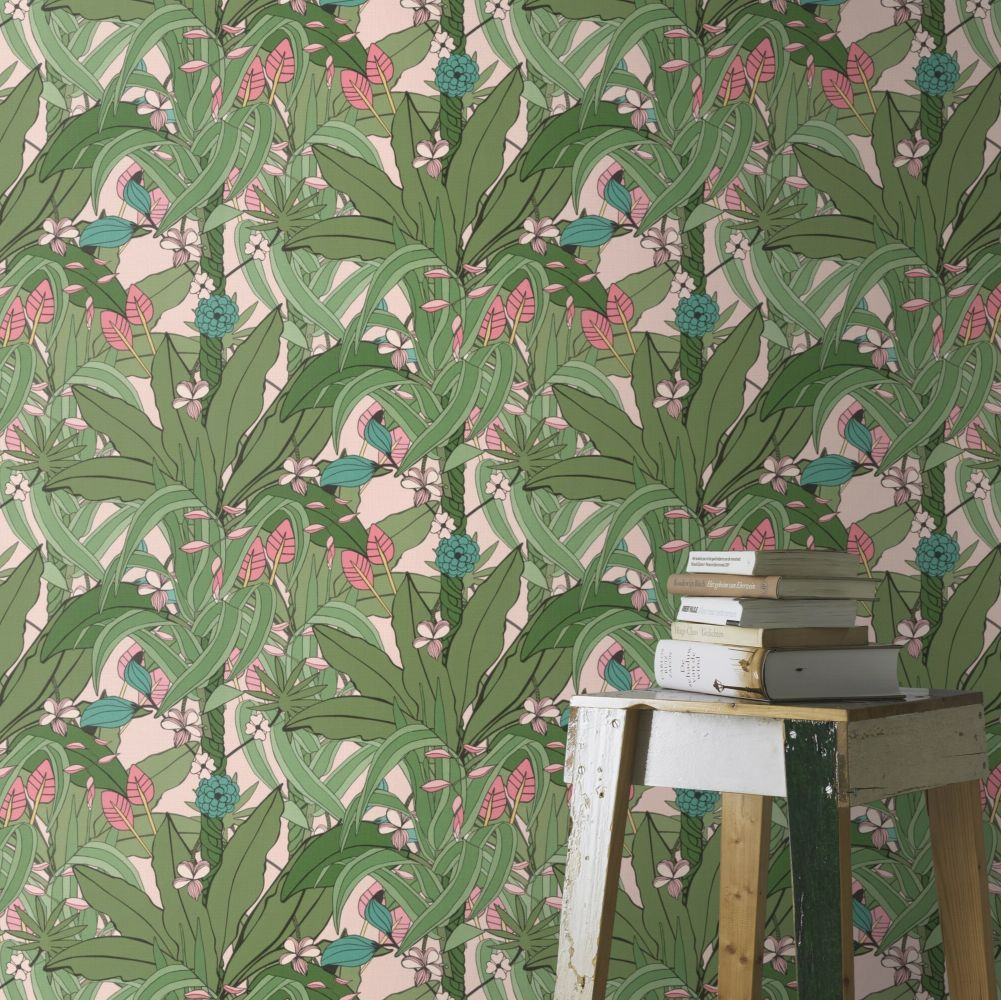 Lush Garden Wallpaper - Green - by Albany