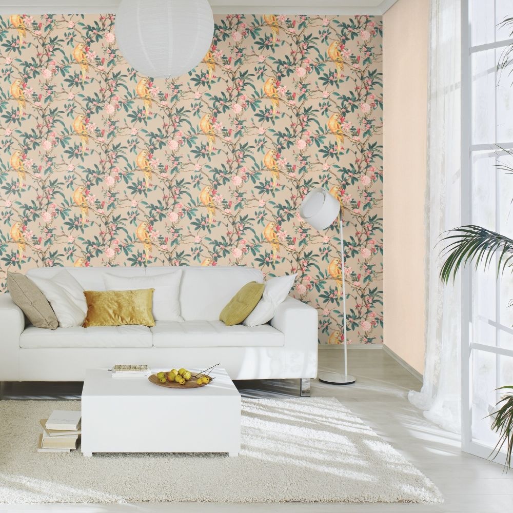 Pretty Polly Wallpaper - Taupe - by Albany
