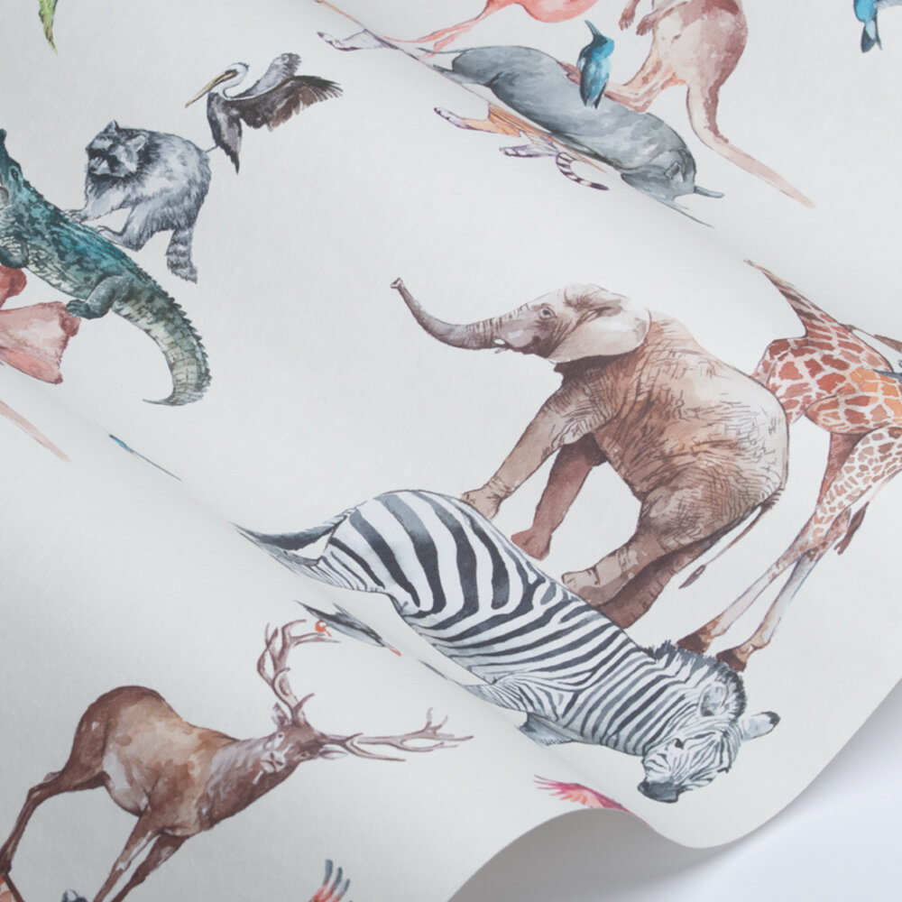 Animal Tower Wallpaper - Rainbow - by Prestigious