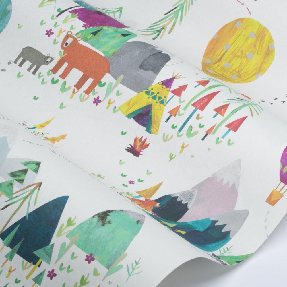 Far Far Away Wallpaper - Rainbow - by Prestigious