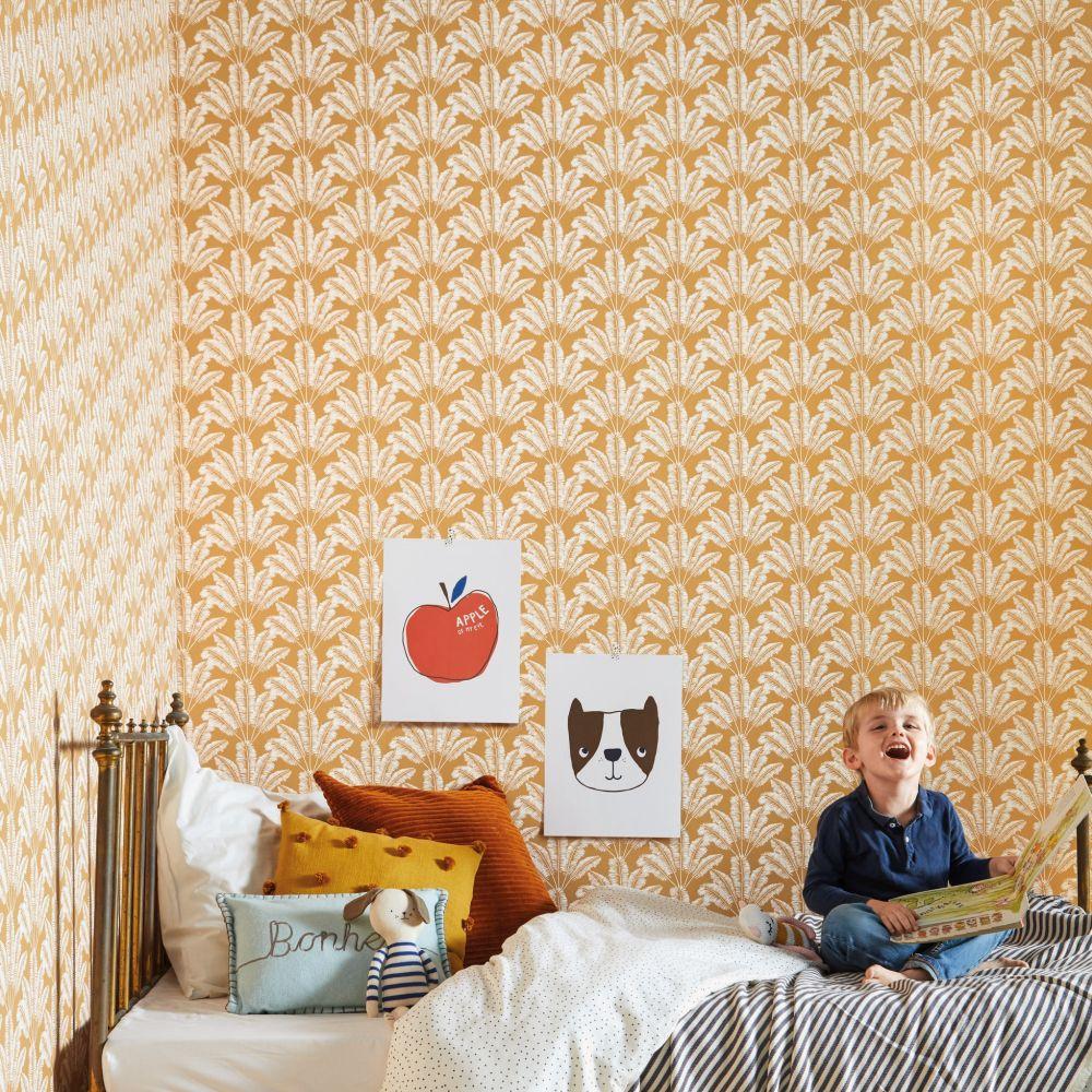 Savannah  Wallpaper - Orange - by Caselio