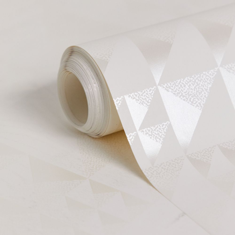 Pyramids Wallpaper - Pearl - by Florence Broadhurst