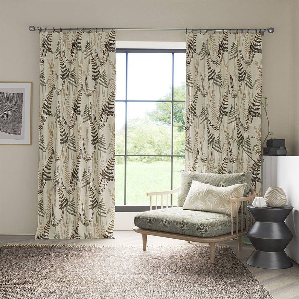 Athyrium Fabric - Chalk, Pewter and Biscuit - by Scion