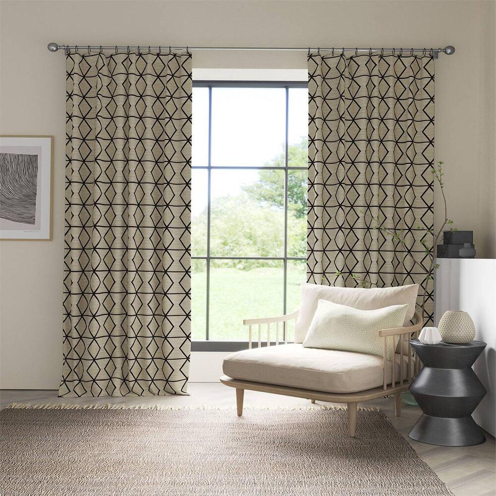 Pivot  Fabric - Taupe/ Onyx - by Scion