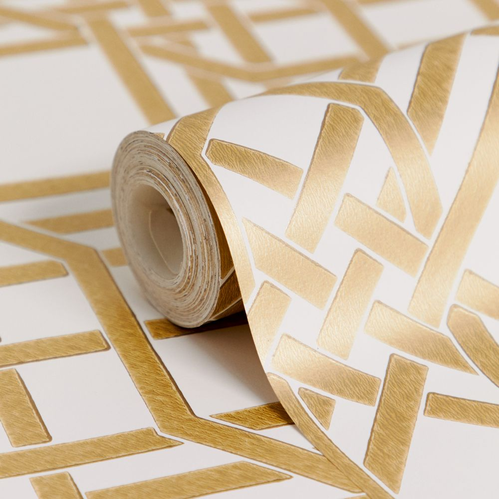 Pagoda Wallpaper - Gold - by Florence Broadhurst