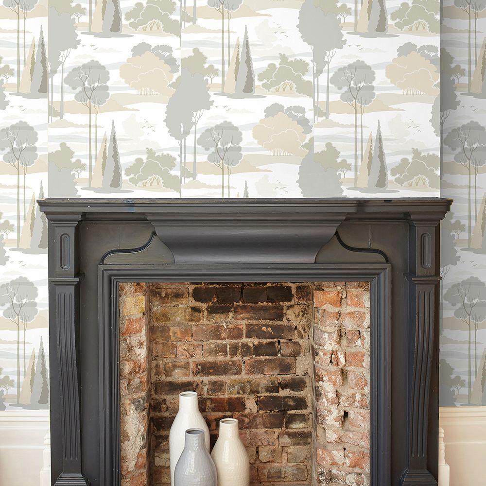 Macarthur Park Wallpaper - Neutral - by Florence Broadhurst