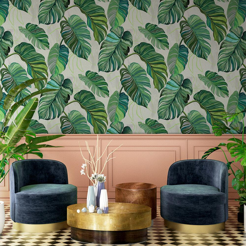 Carioca Wallpaper - Green - by Coordonne