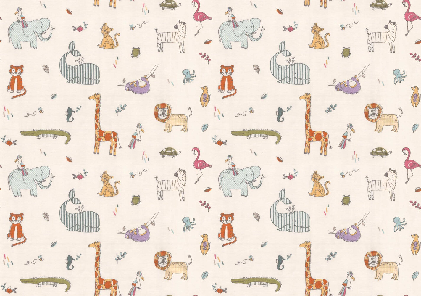 Doodle Fabric - Candyfloss - by Prestigious