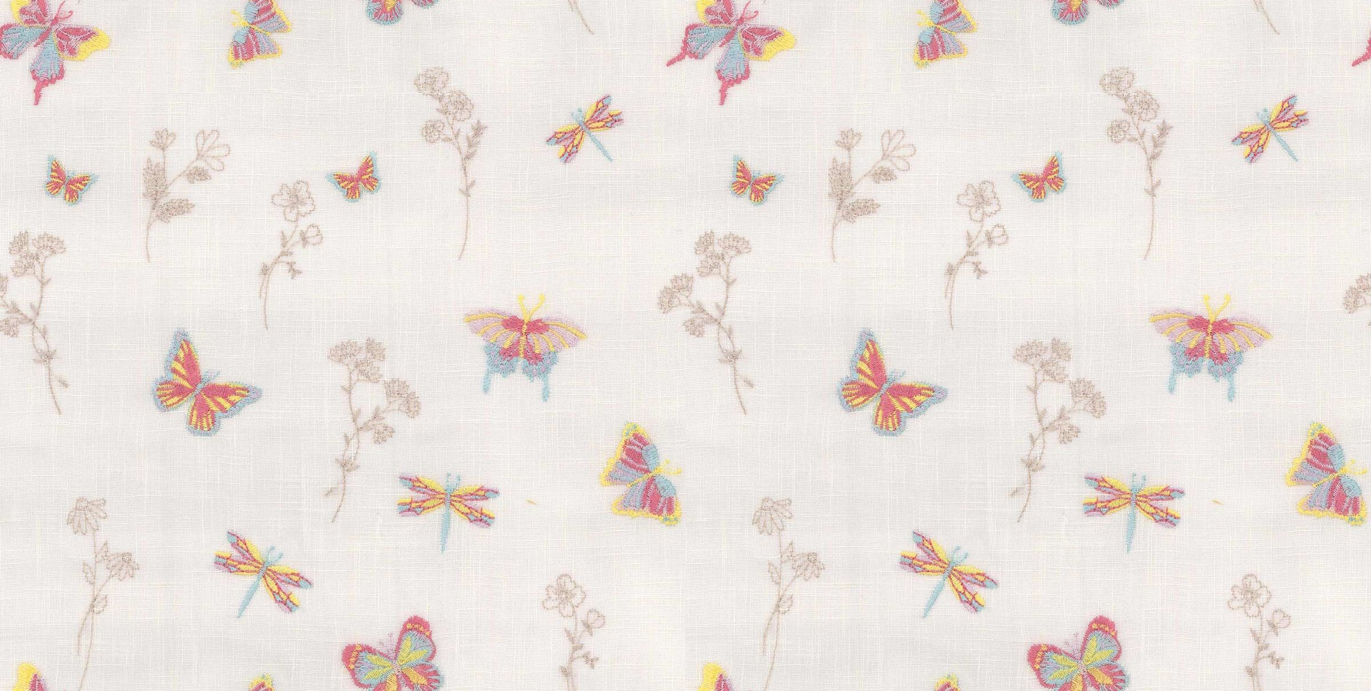 Flutterby Fabric - Candyfloss - by Prestigious