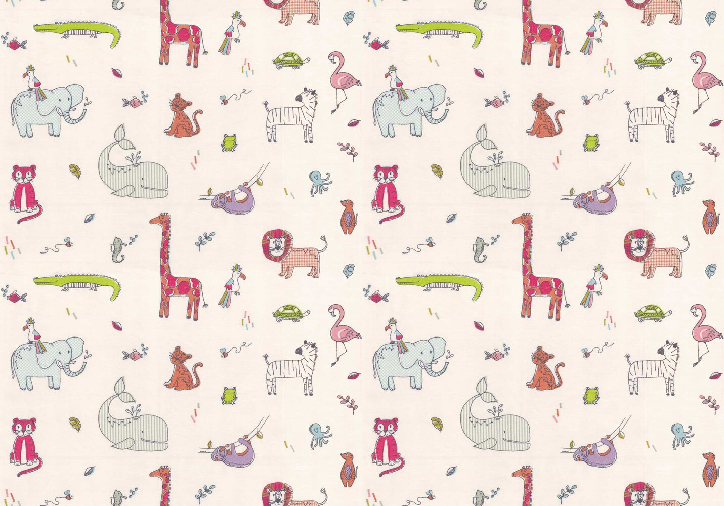 Doodle Fabric - Rainbow - by Prestigious