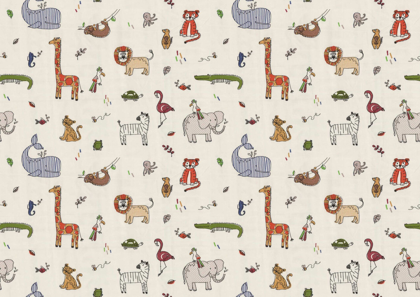 Doodle Fabric - Jungle - by Prestigious