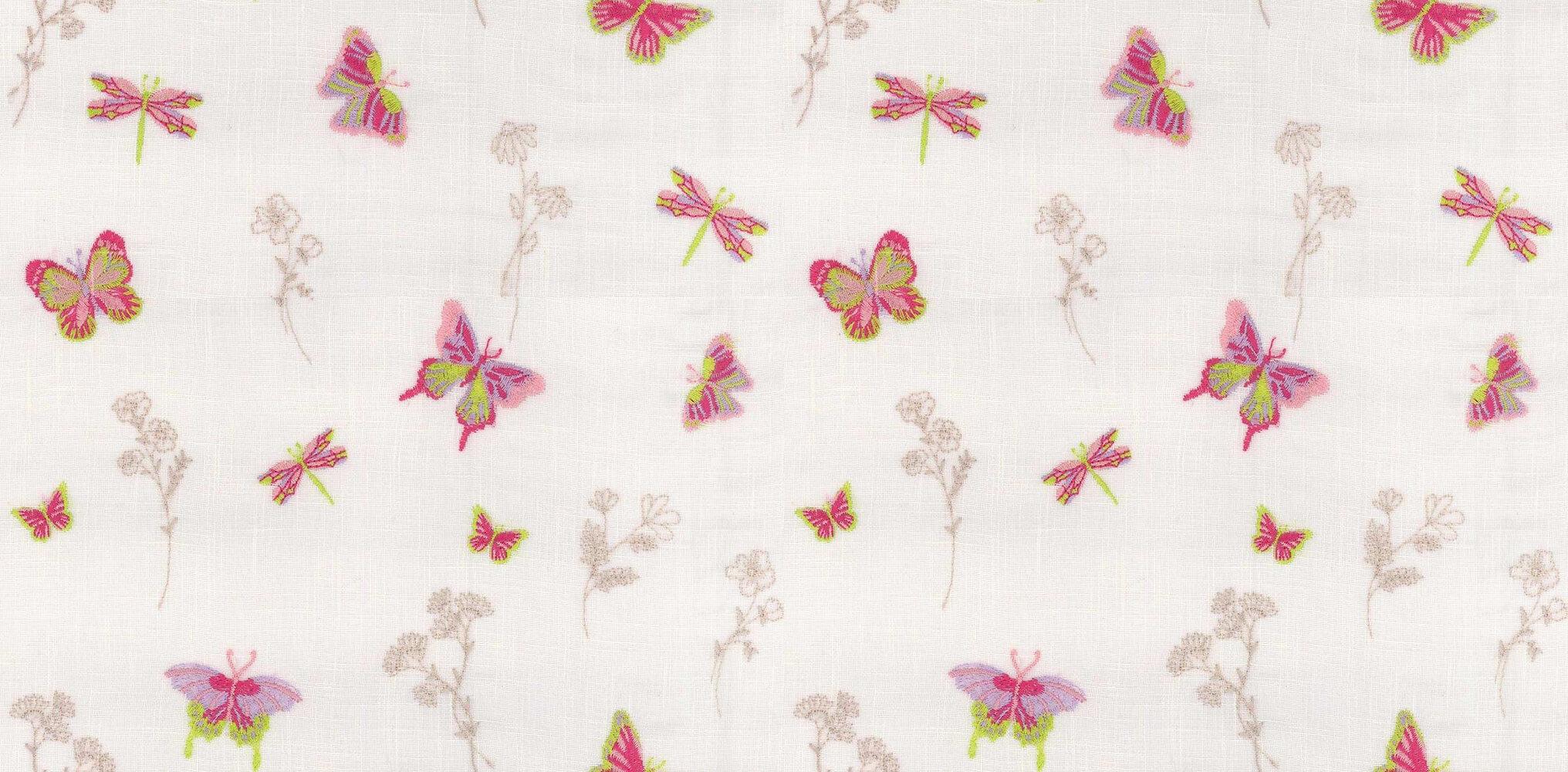 Flutterby Fabric - Rainbow - by Prestigious